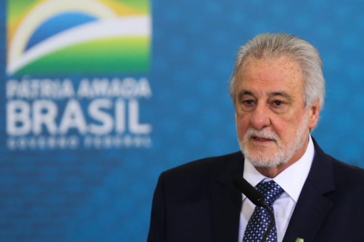 O presidente do SEBRAE, Carlos Melles, discursa durante a abertura da Semana das Comunicações no Palácio do Planalto. (Foto: Fabio Rodrigues Pozzebom/Agência Brasil)