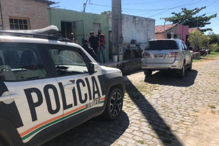 Operação em Iguatu capturou seis suspeitos de crimes no município (Foto: Foto: Polícia Militar)