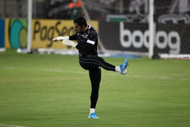 Goleiro Richard será titular do Ceará no jogo deste domingo, 11, diante do Cuiabá pelo Campeonato Brasileiro (Foto: FABIO LIMA)
