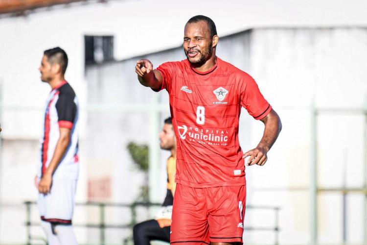 Olávio marcou dois gols na vitória do Atlético-CE diante do Central pela Série D.  (Foto: Kely Pereira / FC Atlético Cearense)