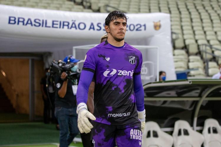 Goleiro Richard no jogo Ceará x São Paulo, na Arena Castelão, pelo Campeonato Brasileiro Série A (Foto: Felipe Santos/Ceará SC)