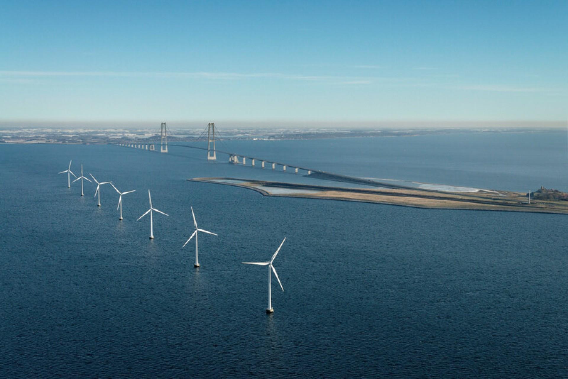 Parque offshore em Sprogø, Dinamarca (Foto: Arquivo Vestas/Divulgação)