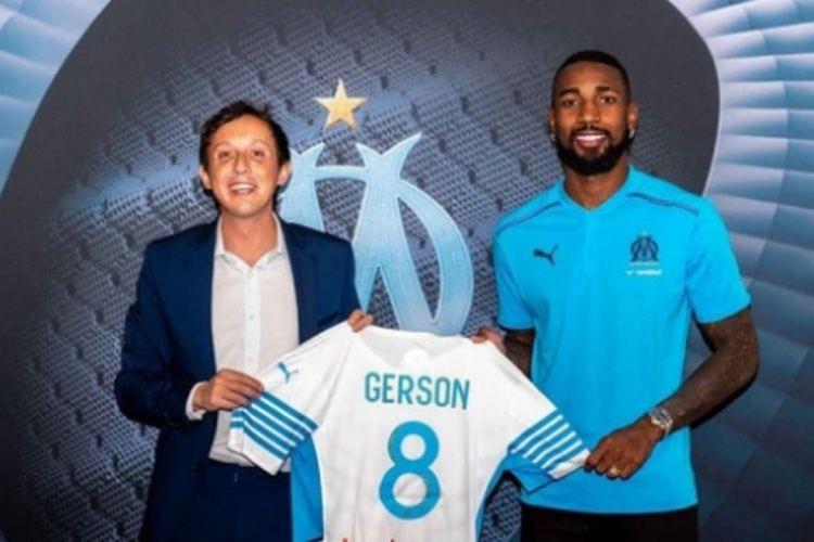 Gerson vestirá a camisa 8 do time francês (Foto: DIVULGAÇÃO/OLYMPIQUE)