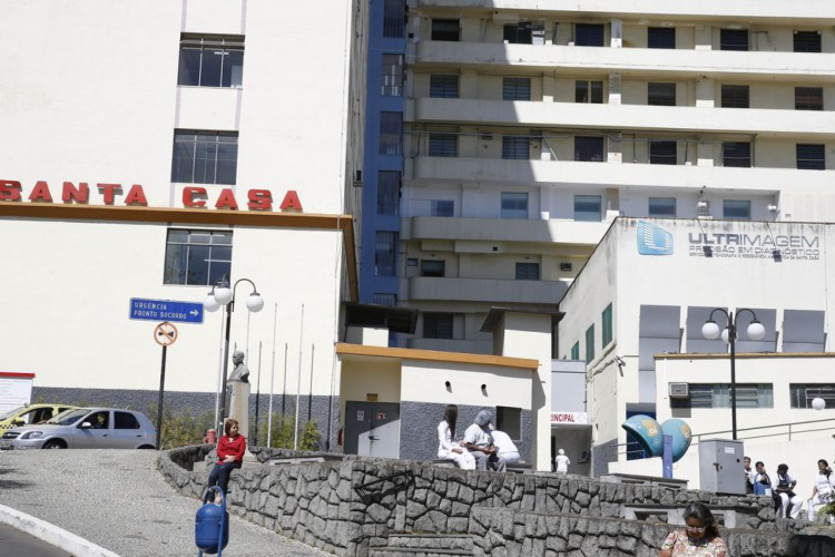 Fuiz de Fora - Santa Casa de Misericórdia, hospital onde o deputado Jair Bolsonaro foi atendido após ser esfaqueado. (Foto: Tomaz Silva/Agência Brasil) (Foto: Tomaz Silva/Agência Brasil)