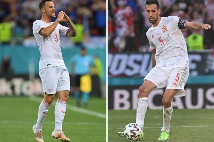 Suíça x Espanha se enfrentam hoje pela Eurocopa; veja onde assistir ao vivo à transmissão e qual horário do jogo              (Foto: JONATHAN NACKSTRAND, JUSTIN SETTERFIELD  / AFP)