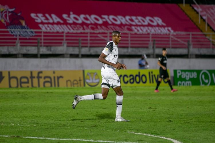 Atacante Cléber no jogo Bragantino x Ceará, no estádio Nabi Abi Chedid, pelo Campeonato Brasileiro Série A (Foto: Fausto Filho / Ceará SC)