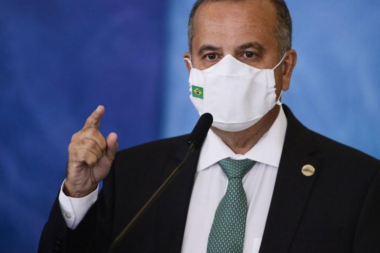 O ministro do Desenvolvimento Regional, Rogério Marinho, durante cerimônia para o  anúncio de investimentos para o Programa  (Foto: Marcelo Camargo/Agência Brasil)