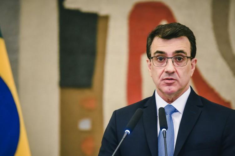 Discurso do Ministro Carlos Alberto Franco França á chefia da casa. (Foto: Gabriel Albuquerque/MRE)