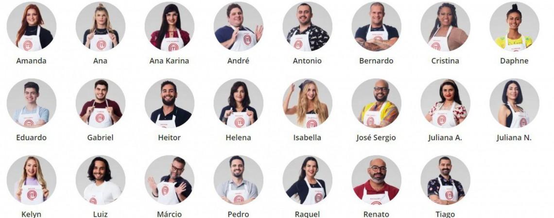 Quem é quem: os participantes do MasterChef Brasil 2021 (Foto: Reprodução/ Portal da Band)