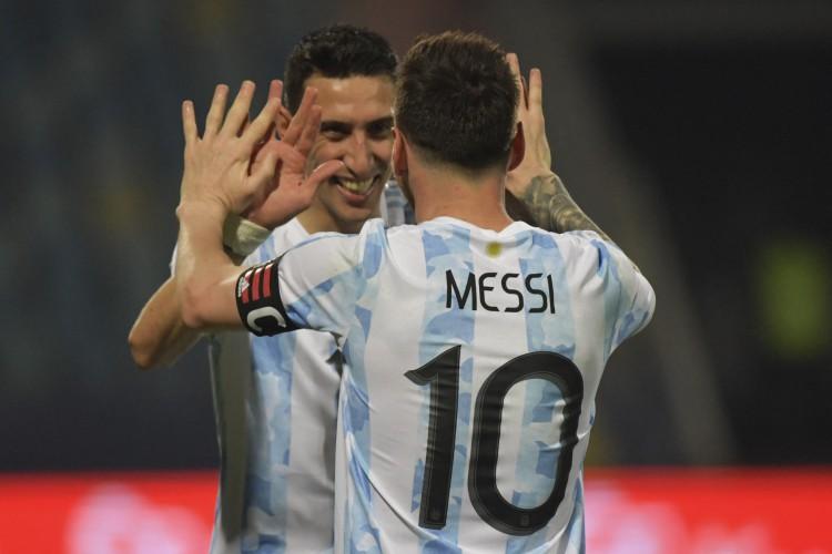 Entre os jogos de hoje, terça, 6 de julho, Argentina enfrenta a Colômbia pela Copa América  (Foto: NELSON ALMEIDA / AFP)