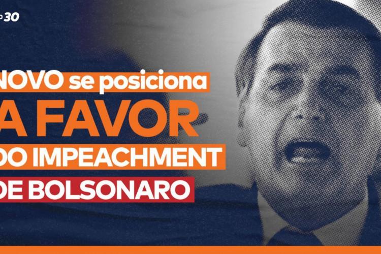 Partido Novo diz apoiar impeachment de Bolsonaro: (Foto: PARTIDO NOVO)