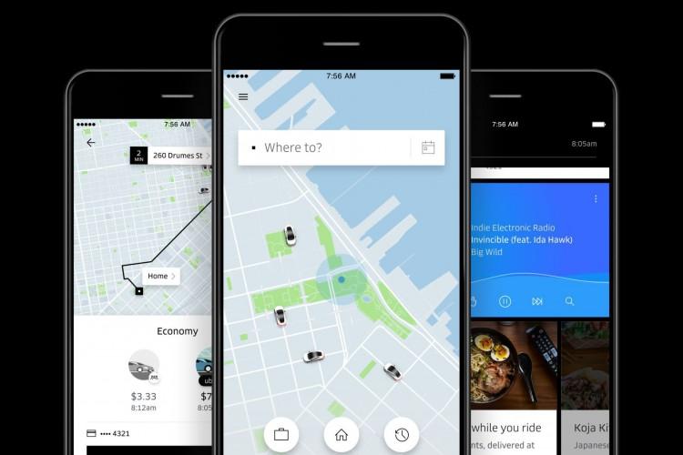 Foto mostra o aplicativo de transporte da Uber (Foto: Divulgação)