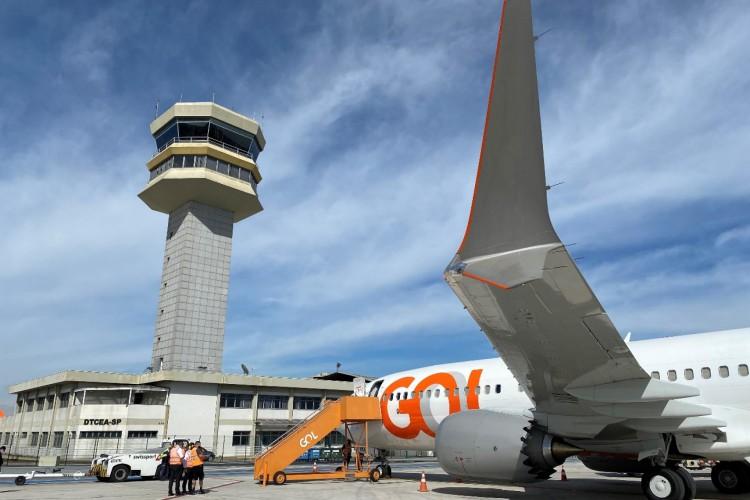 Boeing 737 MAX 8 da GOL entrou em operação no aeroporto de Congonhas no último sábado, 3 (Foto: Arquivo Gol)