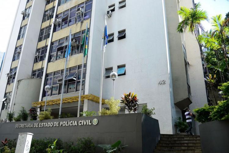 Fachada da Secretaria de Estado da Polícia Civil, no centro do Rio de Janeiro (Foto: Tomaz Silva/Agência Brasil)
