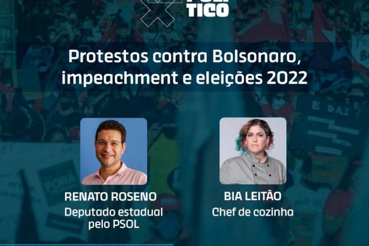 Deputado Renato Roseno e chef Bia Leitão são os convidados do Jogo Político desta terça, dia 6 (Foto: O POVO)