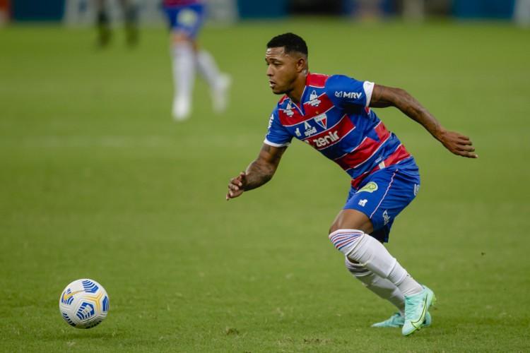 Com gols em todas as competições da temporada 2021, David é o artilheiro do Fortaleza (Foto: Aurelio Alves)
