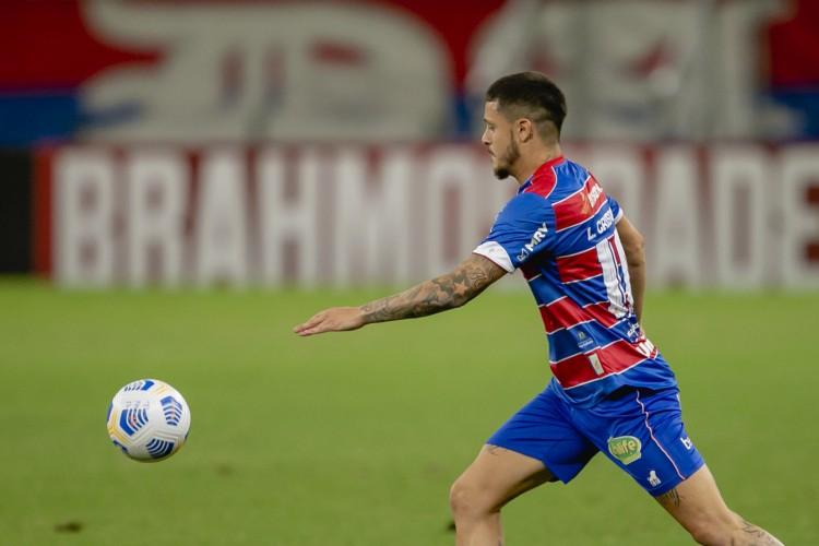 Lucas Crispim já deu duas assistências para gols do Fortaleza na Série A (Foto: Aurelio Alves)