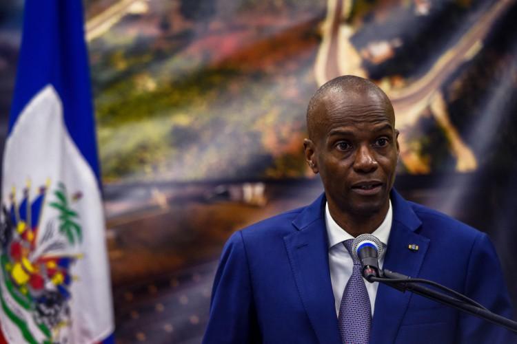 Presidente do Haiti Jovenel Moise, assassinado em casa (Foto: CHANDAN KHANNA / AFP)