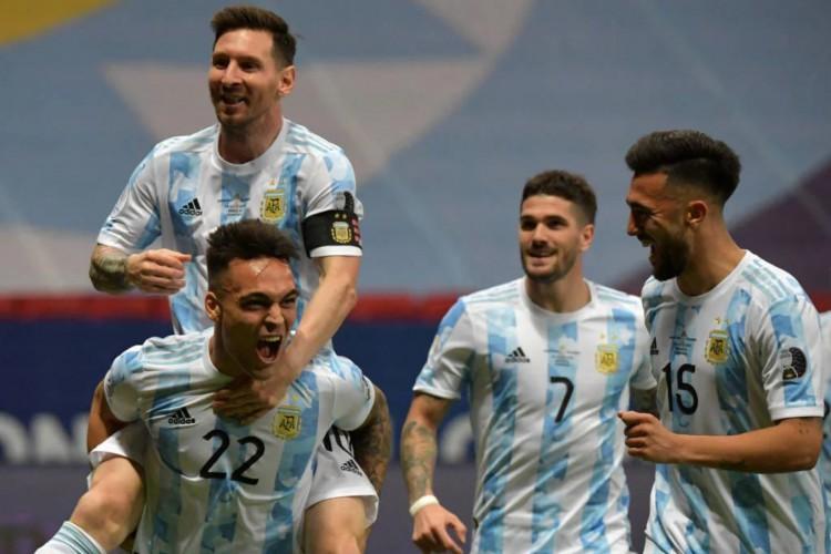 Argentina vence a Colômbia nos pênaltis e encara o Brasil na final da Copa América (Foto: Nelson Almeida/AFP)