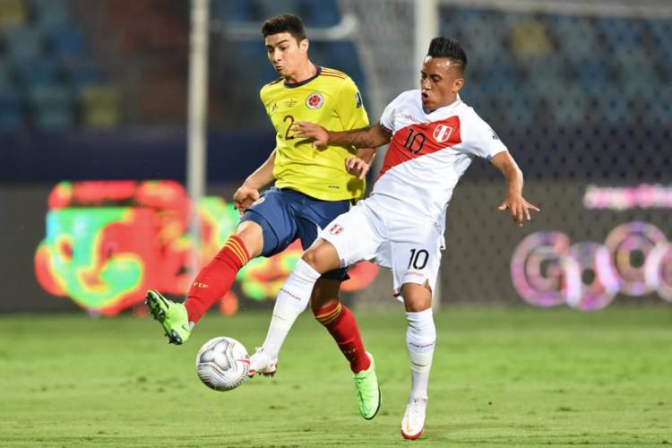 Peru e Colômbia disputam a terceira colocação da Copa América 2021.  (Foto: Evaristo Sá/AFP)