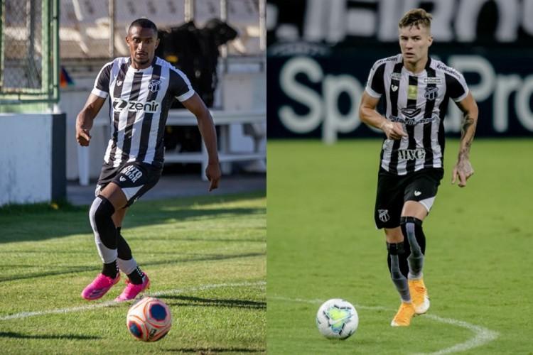 Saulo Mineiro e Charles movimentaram os cofres do Ceará (Foto: Fernando Ferreira / Ceará SC e Aurelio Alves/O POVO)