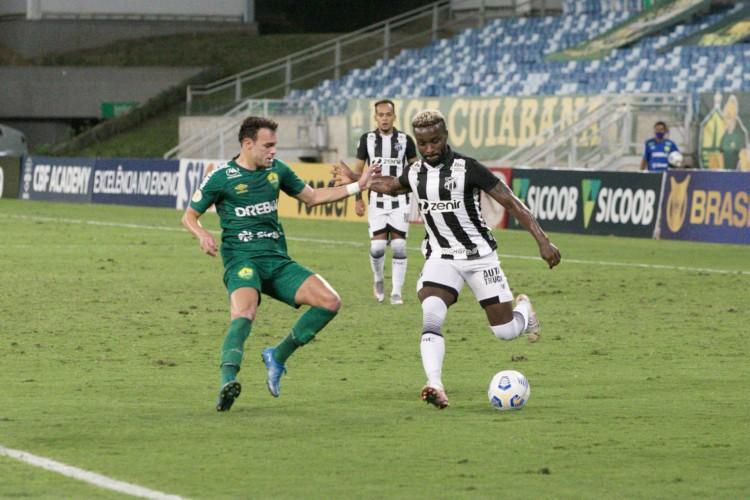 O Ceará empatou por 2 a 2 com o Cuiabá na Arena Pantanal e se tornou o time com mais igualdades na atual edição do Brasileirão, com seis (Foto: Israel Simonton/Ceará SC)