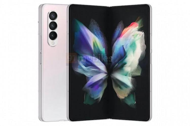 Samsung Galaxy Z Fold 3 é um dos aparelhos que serão revelados em 11 de agosto e foram vazados (Foto: Reprodução/91Mobiles)