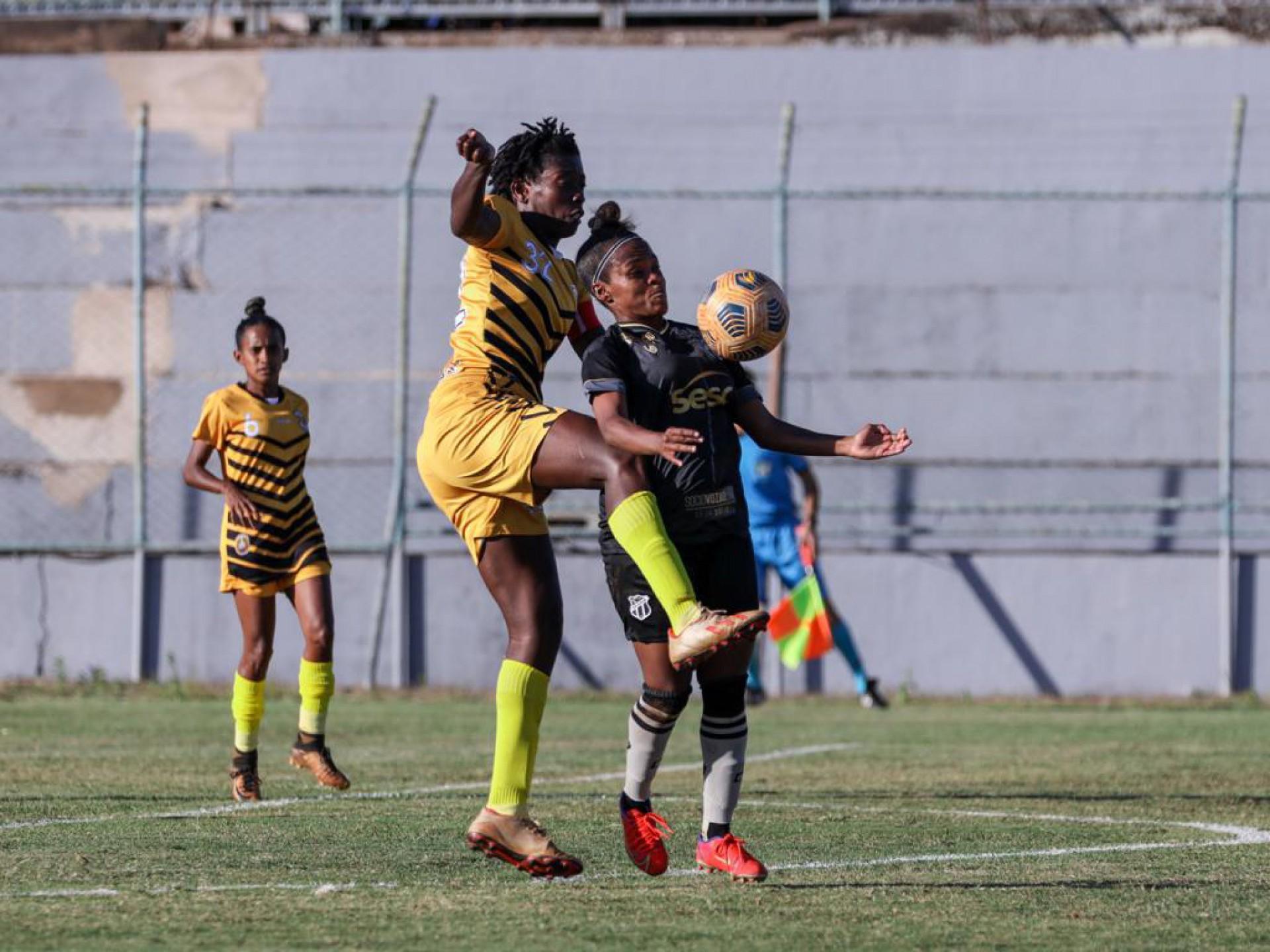 Ceará e Cresspom-DF empataram em 0 a 0 no jogo de ida das quartas do Brasileirão Feminino A2.  (Foto: Júlio César Silva/Ceará SC)