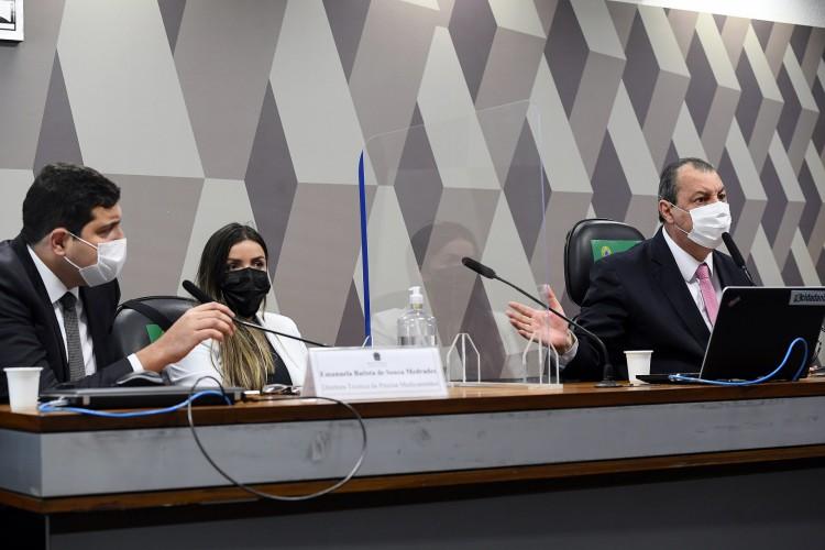 Comissão Parlamentar de Inquérito da Covid-19 investiga a Precisa Medicamentos, empresa que representa a Bharat Biotech no Brasil e que teria feito intermediação nas negociações para compra da vacina Covaxin (Foto: Marcos Oliveira/Agência Senado)