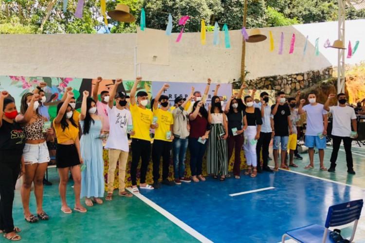100% dos adultos acima de 18 anos, em Guaramiranga, já receberam a primeira dose do imunizante contra Covid-19 (Foto: Fátima Holanda)