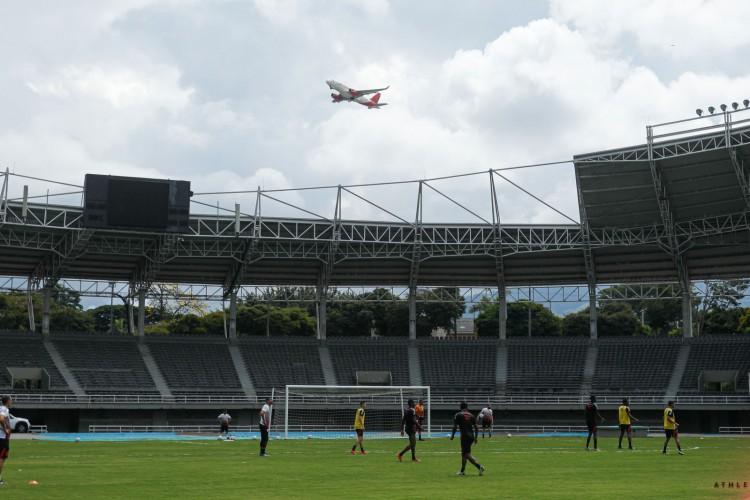 Athletico Paranaense treinou na Colômbia para duelo diante do Ceará. (Foto: José Tramontin/Athletico PR)