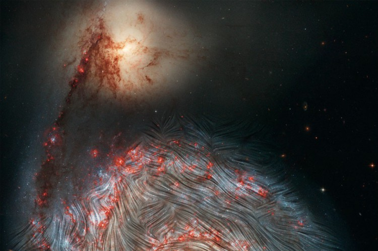 Veja o horóscopo de todos os signos do Zodíaco para esta quinta, 15 de julho (Foto: NASA/ SOFIA/ HAWC+/ Alejandro S. Borlaff; JPL-Caltech/ ESA/ Hubble)