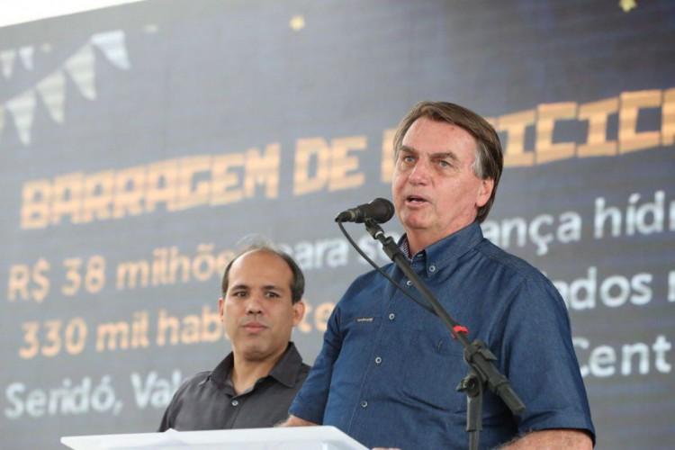 Presidente Jair Bolsonaro esteve em Jucurutu, Rio Grande do Norte, para participar de visita técnica à Barragem de Oiticica...Câmera: Marcos Corrêa/PR (Foto: Marcos Corrêa/PR)