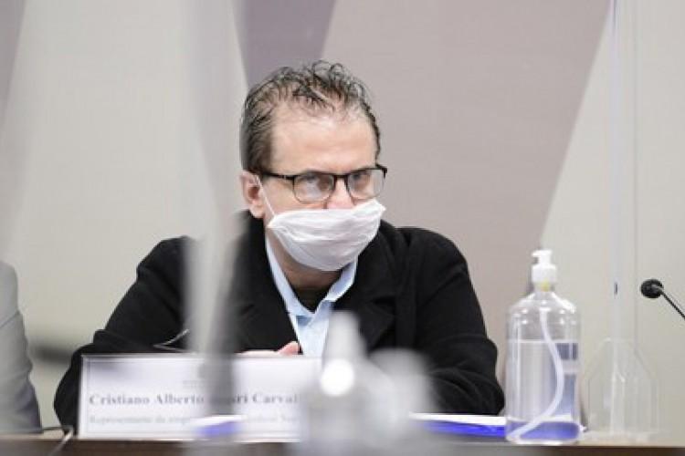 CPI ouve Cristiano Carvalho, da empresa Davati (Foto: Agência Senado)