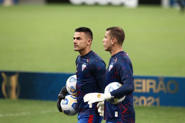 Substituindo Felipe Alves, Marcelo Boeck chega ao terceiro jogo sem sofrer gol (Foto: FABIO LIMA)