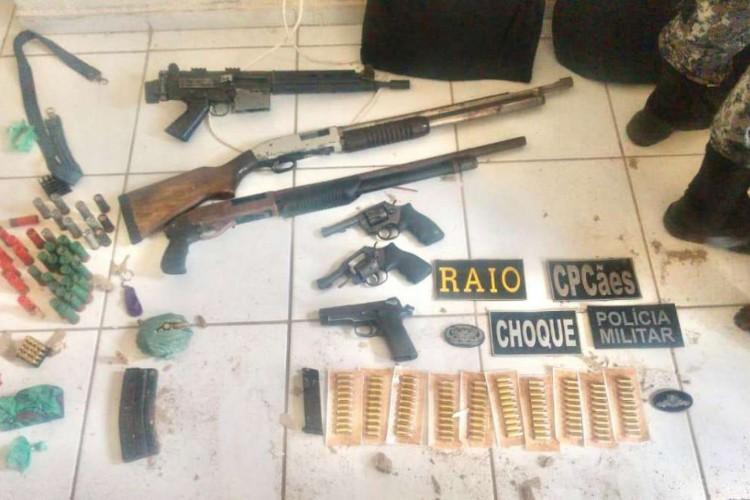 As duas ações da Polícia Militar ocorreram em Caucaia e em Fortaleza (Foto: Foto: Polícia Militar)