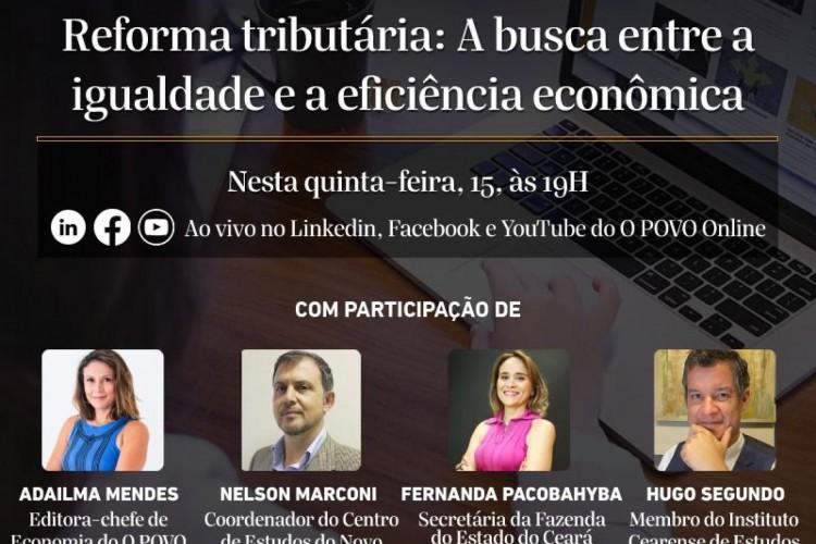 Veja os convidados da live Economia na Real (Foto: Reprodução banner da live)