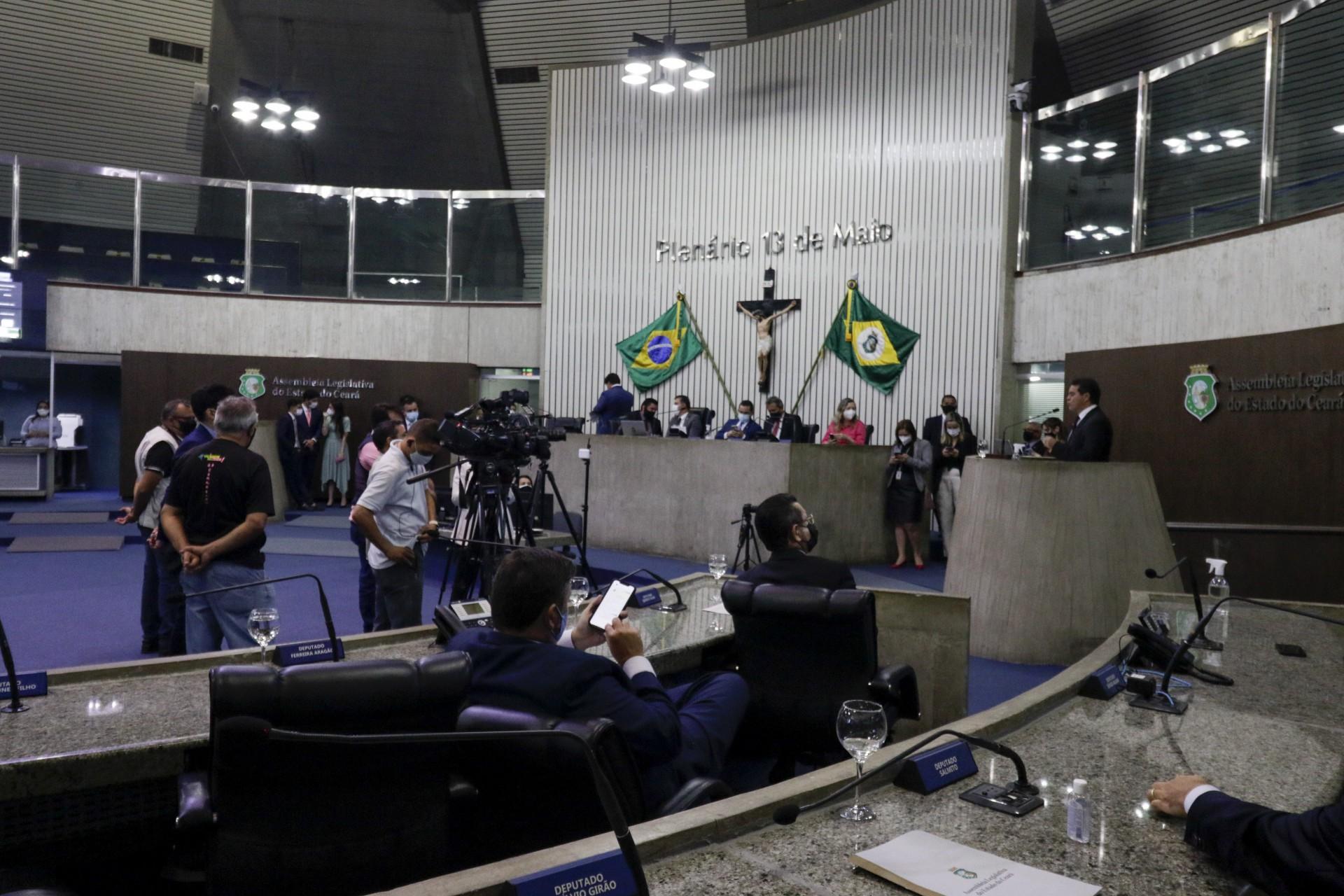 FORTALEZA, CE, BRASIL, 15.07.2021: Assembleia Legislativa do Ceará - Ultima sessão do semestre 2021.1 - Visão Geral Assembleia (Thais Mesquita/OPOVO) (Foto: Thais Mesquita)