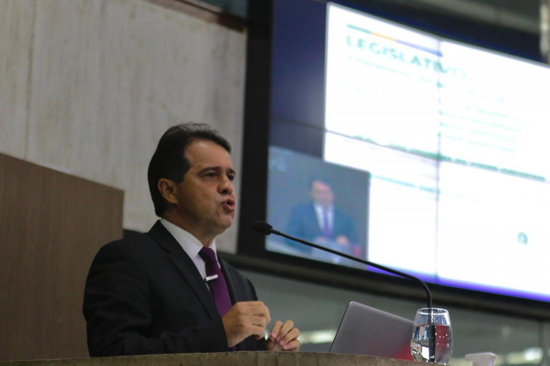 Presidente da Assembleia Legislativa do Ceará, deputado Evandro Leitão (PDT), realiza balanço de atividades do primeiro semestre de 2021  (Foto: Thais Mesquita)