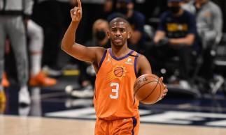 Chris Paul, armador do Phoenix Suns, que está na final da NBA e joga contra o Milwaukee Bucks hoje, sábado, 17 de julho. Saiba onde assistir a partida