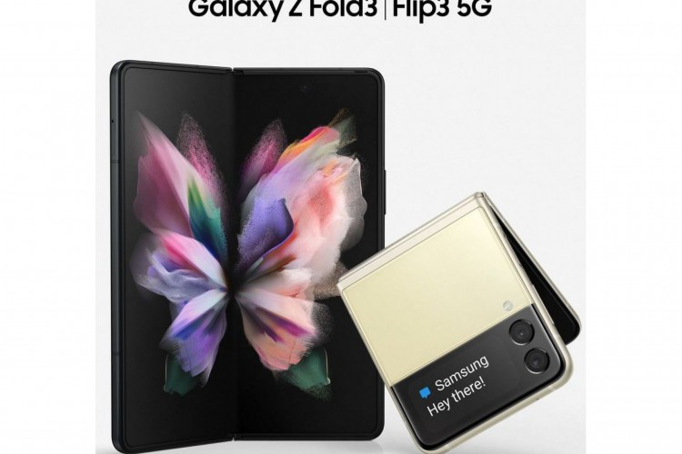 Z Fold 3 e Z Flip 3, homologados esta semana pela Anatel, serão lançados oficialmente pela Samsung em 11 de agosto; modelos dobráveis fazem parte da linha Galaxy (Foto: Reprodução/Twitter/@EvLeaks)