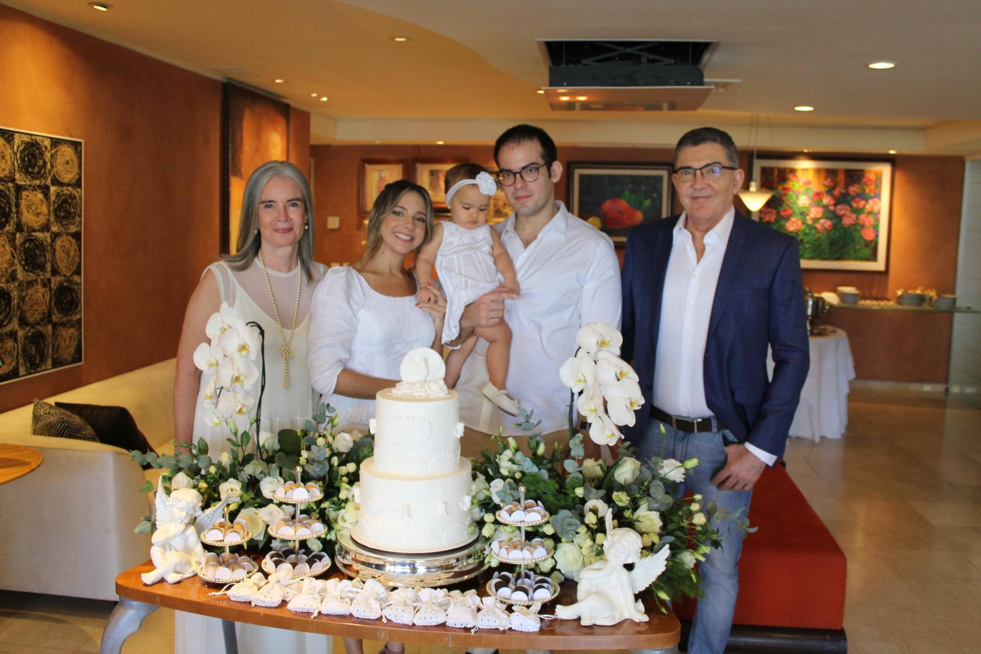 Virgínia, Erika, Sarinha, Renato e Jaime Leitão