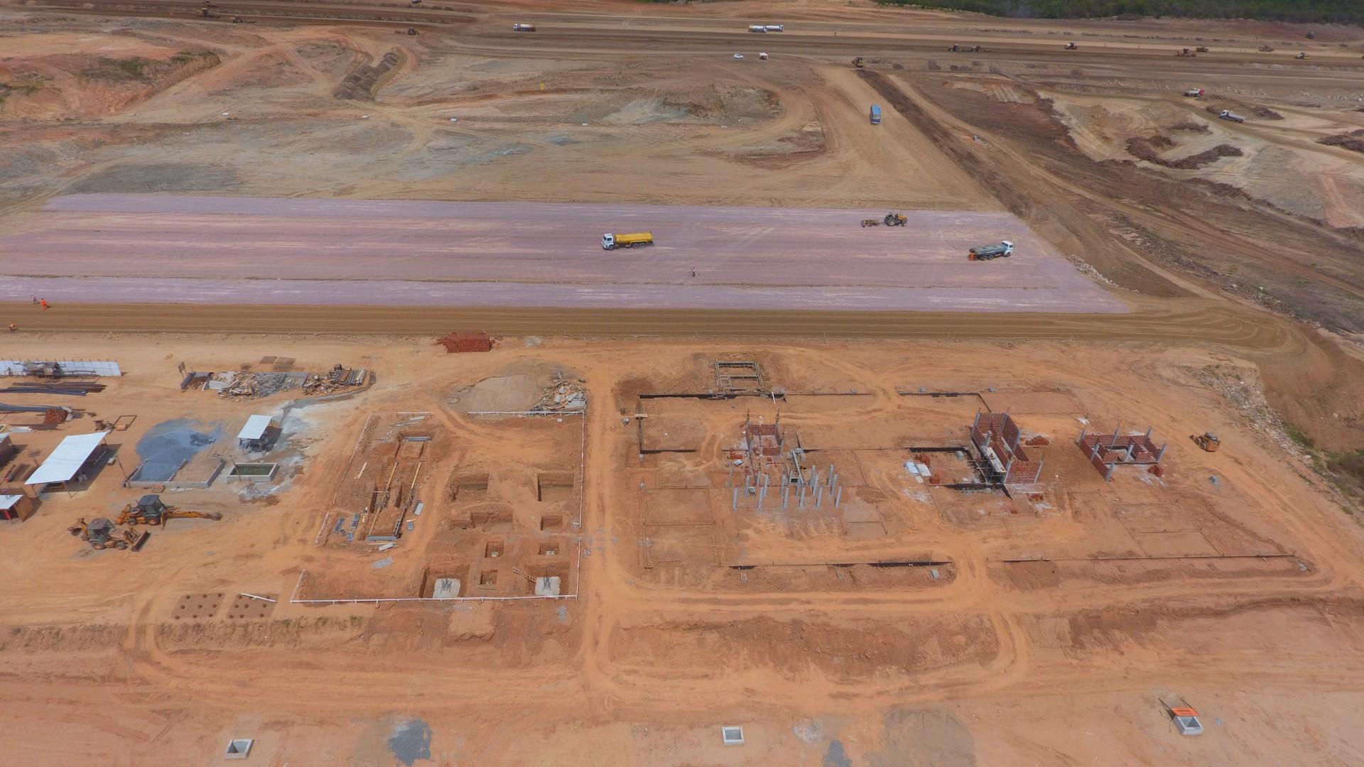 Aeroporto de Sobral deve ser  entregue no início de 2022 e é  destacado por secretário (Foto: Divulgação/Seinfra)