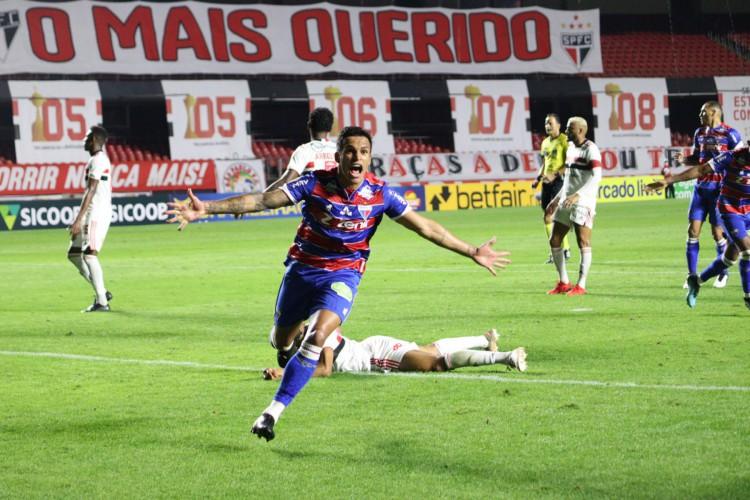 Fortaleza venceu o São Paulo e encerrou o tabu de vitórias no Morumbi (Foto: Leonardo Moreira /FortalezaEC)