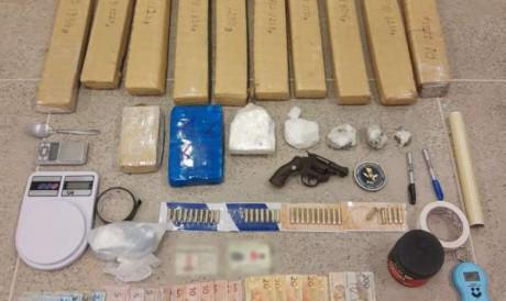 Os entorpecentes encontrados na região de Jericoacoara totalizaram 13,5 quilos de maconha e 2,81 quilos de cocaína