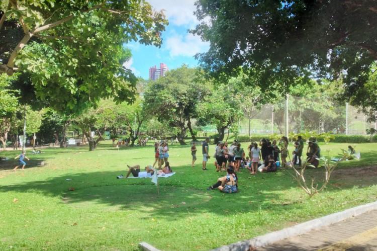 O primeiro domingo de retomada das atividades do projeto Viva o Parque em 2021 foi movimentado.