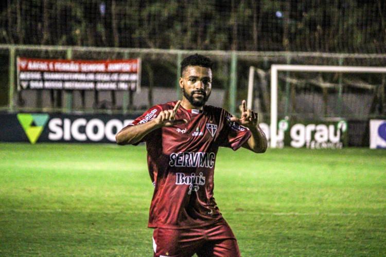 REINALDO deu ao Ferroviário a vitória contra o Manaus (Foto: Lenilson Santos/Ferroviário)