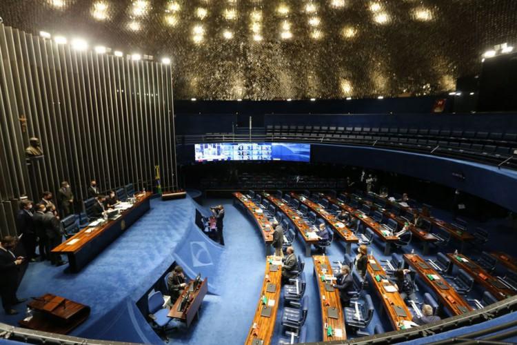 Plenário do Senado Federal durante sessão deliberativa  (Foto: Fabio Rodrigues Pozzebom/Agência Brasil)