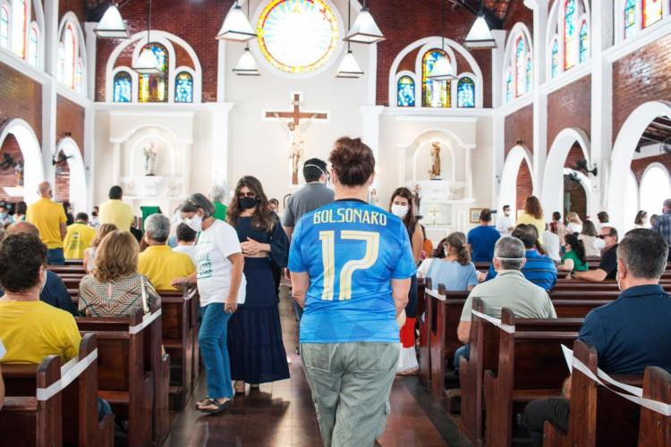 Missa neste domingo, 18, na Paróquia da Paz, no bairro Aldeota (Foto: Fernanda Barros/ Especial para O POVO)