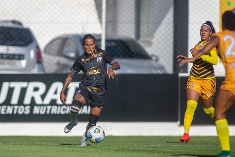Ceará foi derrotado pelo Cresspom-DF e caiu nas quartas de final do Brasileirão Feminino A2 pelo terceiro ano consecutivo.  (Foto: Stephan Eilert/Ceará SC)